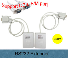 Wholesale Via Max - Free shipping New Arrival High quality Male to Female RS232 transmitter DB9 signal amplifier via Cat5 cat6 net cable Max 300m
