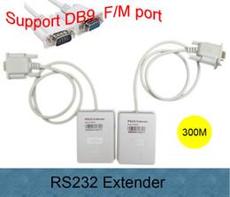 2019 pci cpu card Frete grátis New Arrival Alta qualidade Macho para Fêmea RS232 transmissor amplificador de sinal DB9 via Cat5 / cat6 cabo net Max 300 m