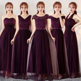Wholesale Bridesmaid Dress 22 - Bridesmaid Dresses long 2017 new autumn and winter clothing slim bride toast bandage sister dress party dress, sleeveless, A word skirt, 22