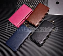 Wholesale Iphone Real Leather Pouch - Real Leather Wallet Case For iPhone 6 6s With Card Slot Clip Case 2 in 1 Leather Case