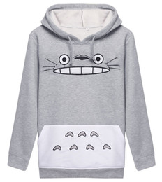 Wholesale Cartoon Xxl - Raisevern Hot 3D Thick Sweatshirt Harajuku Cartoon Totoro Animal Print Women Cosplay Suit Hoodie Spring Autumn Outside Clothes cotton