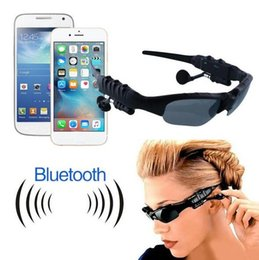 Wholesale Smart Bluetooth Headsets - Smart Glasses Sports Stereo Wireless Bluetooth 4.0 Headset Telephone Polarized Driving Sunglasses mp3 Riding Eyes Glasses