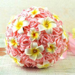 Wholesale School Egg - HOT Handmade Wedding Bridal Bouquet 2016-2017 Wedding Decoration Artificial Bridesmaid Flower Bouquets Silk Egg Cheap Flowers For Wedding