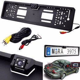 Wholesale Camera Car License Plates Night - Auto Car Waterproof Night Vision Back up Reverse Rear View Camera + Europe License Plate Frame CAL_043