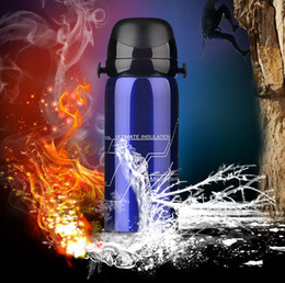 Wholesale Stainless Steel Bottle Print - 800ml Stainless Steel outdoor vacuum heat preservation Water Bottle easy carry Double layer Cup Large Capacity Tumblerful Mug Can print logo