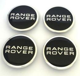 Wholesale Range Covers - 4pcs lot 63mm Wheel Center Caps Hub Cap Cover Emblem For Land Rover RANGE ROVER LR2 LR3 LR4 RANGE LAND ROVER Sport