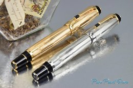 MBohemia Super A + Quality Office School Stationery Golden / Silver Wiredrawing Style Two con Golden Fountain Luxury Fountain Pen da bambini rossetto all'ingrosso fornitori