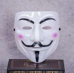 v maschere Sconti Holloween Party Maschere V per Vendetta Maschera Anonimo Guy Fawkes Fancy Dress Costume adulto Accessorio Party Maschere Cosplay