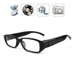 Wholesale Glasses Camcorder Hidden Camera - 32GB HD 720P Spy Hidden glasses Camera Micro Pinhole Camera Mini sunglasses DVR Eyewear camera video recoder portable security camcorders