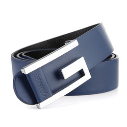Wholesale Thin White Leather Belt - Wholesale-2016 New Brand Top Genuine Leather Men's Thin Belt,Fashion Style Smooth Buckle Decorative Belts For Men W127