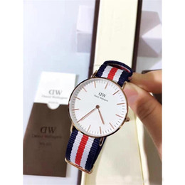 Wholesale Watch Couple Rose Gold - New lady Daniel watch 36MM nylon with rose gold business casual couple quartz watch