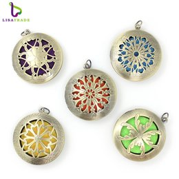 Wholesale Perfume Diy - Aromatherapy Perfume Diffuser Locket Pendant For Perfume DIY 10 Styles can choose Fit 22.5MM Pads LSAR244-248