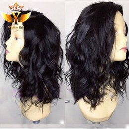 "Wholesale Short Wigs For Women Blonde - Super Natural And Soft Synthetic Lace Front Wig Bob 12"" 14"" 16"" wavy Short Synthetic Lace Front Wig For Black Women"