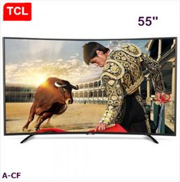 Wholesale Tcl Android - TCL 55-inch curved high color gamut eight-core Android smart LED LCD TV micro-channel Internet,Resolution 1920 * 1080 Full HD TV