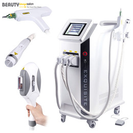 Wholesale Tattoo Removal Light Machine - IPL E-light Hair Removal Yag Laser Freckle Wrinkle Tattoo Removal RF Radio Frequency Skin Rejuvenation Face Lifting Beauty Machine