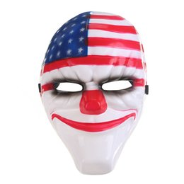 Wholesale Old Men Mask - Halloween Best Selling Collective Edition Mask Resin National Flag Clown Old Men Red Head 4 Types 4 Sizes Handmade Mask 1PCS