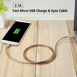 Wholesale flexible cable wire - Fast Charge Micro USB Cable For Xiaomi Huawei HTC Sony Zinc Alloy Soft Flexible Data Wire For Samsung S7 S6 Edge