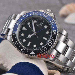 Wholesale Mens Limited Automatic Watch - Luxury Brand Blue Dial Limited women's fashion men Watch GMT New Mechanical Automatic Master ii Mens stainless steel Wristw watches
