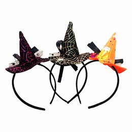Wholesale Little Girls Wholesale Accessories - Halloween prop Hair Accessories Little Witch Hat Hair Sticks for children Girl Gifts Costume party Supplies Holiday gift 2017