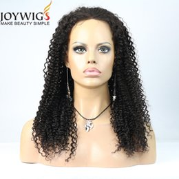 Wholesale Curly Hair Half Wigs Cheap - Joywigs wholesale cheap indian hair kinky curly lace front wig human hair wig full lace wig free shipping