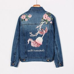 Wholesale Girls Denim Shorts Floral - Newest Women Denim Jacket Embroidery Floral Coat Top Quality Korea Style Slim Fit Short Coat Hip-Hop Outwear For Girl Women