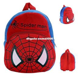 Wholesale Pelucia Kawaii - Kawaii Spiderman Mini Baby Lovely School Bags Spider Man Plush Backpack Boys Cartoon Schoolbags Baby Kids Toys Mochila Pelucia