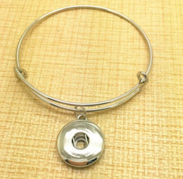 Wholesale Wholesale Silver Wire For Jewelry - Vintage Silver Snaps Button Charms Expandable Bracelet Bangles For Wiring Bangles 12pcs Women Brand Fashion Jewelry Gift Accessories DIY Z18