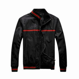 Wholesale Classic Patterns - Sell Men's Pattern Classic Jacket Outwear Red Green Rib Sleeve Zipper Up Black Blue M-XXL Men's Leisure Jacket Outlets