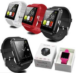 Wholesale Android Note3 - Bluetooth SmartWatch U8 Watches Wristband Android Watch VS DZ09 GT08 M26 for iPhone SamsungNote4 Note3 HTC LG
