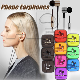 Wholesale Iphone Color Silver - 3.5mm Metal Xiaomi HIFI Headphone Universal Earphone Noise Cancelling In-Ear Headset earphone With Mic With Retail Package No Logo