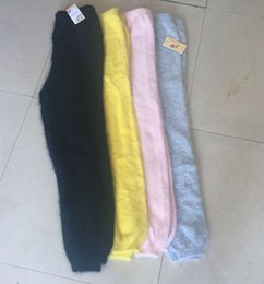 Wholesale Full Length Mink - Wholesale-Men's winter mink cashmere knitted trousers thick warm pants M491