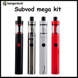 Wholesale Mega Quality - High Quality Kanger SUBVOD Mega TC starter Kit 2300mAh Battery 4.0ml TOPTANK Mini Topfill Atomizer Gift Box