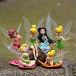 Wholesale Dollhouses Miniatures - 3.5 inch Garden Fairy Miniatures Decor for Garden Fairy Genius Elf Mini Figure Character Decorations Dollhouse Action Figure Ornament