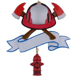 Argentina Maxora Firefighter personalizó el ornamento de la Navidad de Polyresin como para los regalos del festival del fuego del día de fiesta Suministro