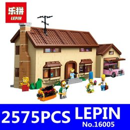 Wholesale Movies Kit - LEPIN 16005 2575Pcs Movie Series Simpsons House Model Building Blocks Bricks Kits Educational Toys for Children Compatible 71006