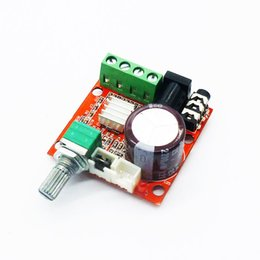 Wholesale 12v Mini Amplifier Speaker - 1PCS Free shipping Mini HiFi Amplifier Board 2*10W Dual Channel Hi Fi PAM8610 Amplifier Module Board 12V for Computer Audio Red