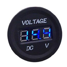 Wholesale waterproof motorcycle voltmeter - Professional Waterproof Gauge LED Digital Display Voltmeter 12V-24V BLue LED Light For Universal Car Motorcycle Measure Voltage 6V-30V