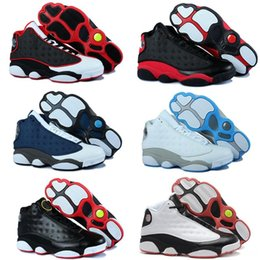 Wholesale Hologram Bands - Wholesale Famous Trainers 13 XIII Air Retro 13 Hologram Mens Sports Basketball Shoes Barons (white black grey teal)