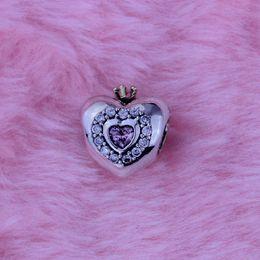 Fit pour Pandora Bracelet Coeur Perles Avec 14K Or Couronne plaquée 100% 925 Argent Sterling Charmes BRICOLAGE Jelwery En Gros 1pc / lot ? partir de fabricateur