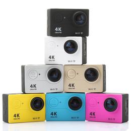 Wholesale Fast Optical - Action camera EKEN H9 Ultra HD 4K WiFi 1080P 60fps 2.0 LCD 170D lens Helmet Cam underwater waterproof go pro camera SJ4000 style DHL fast