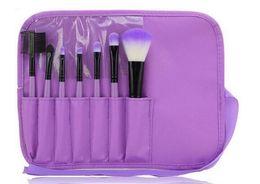 Wholesale Make Up Bag Sets - Makeup Brushes Make Up Brush Set Kits Eyelash Brushes Blush Brush Eye-shadow Brush Sponge Sumudger 7pieces Make Up Tools PU Bag