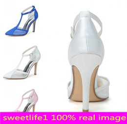 Wholesale Cheap Heels Shoes For Women - Cheap 0608-04 Simple Fashion High Heels Wedding Dresses Buckle Strap Pointed Toe For Women Party Prom Evening Occasion Shoes High Quality