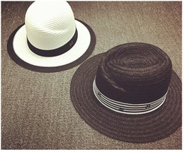 2018 Wholesale New Maison Michel Wide Brim Straw Hat For Women Men Jazz Cap  Panama Floppy Beach Sun Hat Fedora Bowler Hat Bombetta Cappello From  Hoganr 01369cf81062
