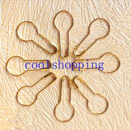 Wholesale Gourd Safety Pins - Metal Pins Calabash Gourd Pear Shape Safety Metal Clips Knitting Stitch Marker Tag Hangtag Pins Fastener Craft DIY 1000pcs sets
