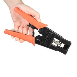 Wholesale rg59 bnc - Adjustable Crimping Pliers multitool Cable Wire crimper Cutter hand tools Coax Compression Connector for F BNC RCA RG58 RG59 RG6