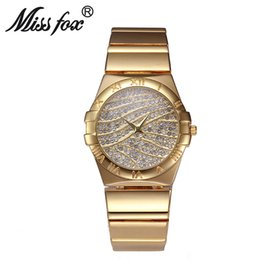 Wholesale Crystal Rome - New Model Women Watches Luxury Rome Digite Party Dinner Bracelet Crystal Analog Lady Watches Relogio Feminino orologio donna