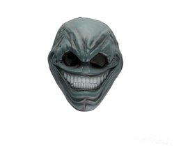 Wholesale Gray Masquerade Masks - Profiled Harvest Day Resin Mask Halloween Payday2 Special Topic Collector Game Masquerade Party Masks Free Shipping