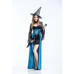 Wholesale Wholesale Sexy Games - 2016 New Halloween Cosplay Costumes Girls Game Uniforms Halloween Dress Witch Costume Role Cosplay Sexy Costumes Free Shipping By DHL