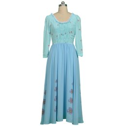 Wholesale Cinderella Costumes Adults - 2015 Exclusion Halloween Chrismas Cinderella Cosplay Costumes Informal Clothes Adult Women Halloween Party Dress Custom Made