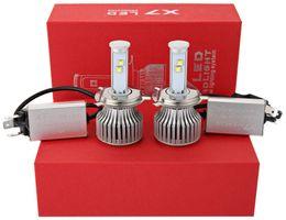 Led-scheinwerfer umbausatz h4 online-2 teile / los Auto Nebelscheinwerfer Glühbirne Weiße Led Automotive Scheinwerfer H4 6000 Karat X7 LED Scheinwerfer All-in-one Conversion Kit Auto Scheinwerfer